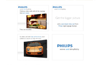 Philips website banners